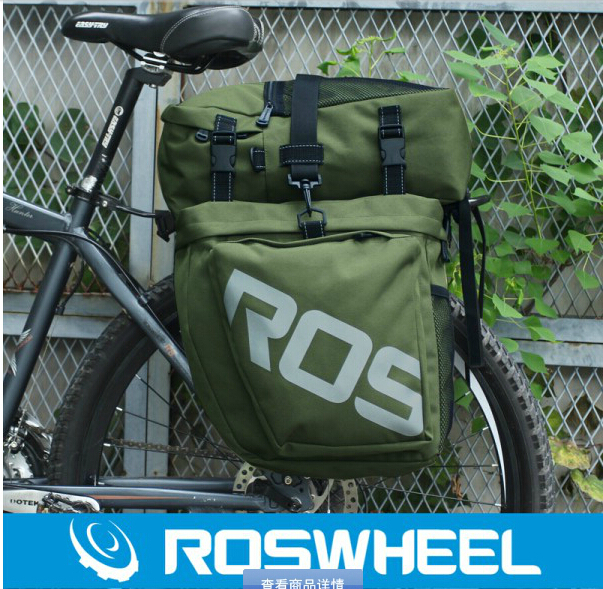 ROSWHEEL MTB Mountain Bike Rear Seat Bags 37L 3 in 1 Multifunction Road cycling Bicycle Pannier Trunk Bag 2 colors wheel up bicycle rear seat trunk bag full waterproof big capacity 27l mtb road bike rear bag tail seat panniers cycling touring