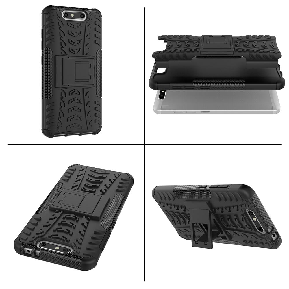 Funda ZTE Blade V8 5.2inch TPU y PC Dual Armor Capa con soporte Funda - Accesorios y repuestos para celulares - foto 6