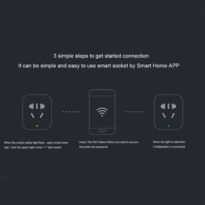 Image 4 - 100% המקורי Xiaomi חכם שקע תקע בסיסית WiFi אלחוטי מרחוק שקע מתאם כוח לסירוגין עם טלפון