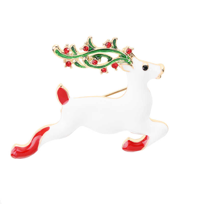 2019 Latest Christmas Brooch Pin Jumping Elk Symbolizes The Most Christmas Gift Of The Holy Christmas