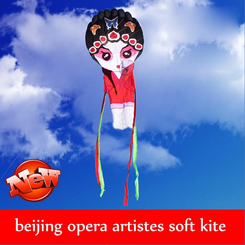 1 PC haute qualité chinois traditionnel cerf-volant opéra de pékin cerf-volant jouets en plein air pékin opéra masque cerf-volant