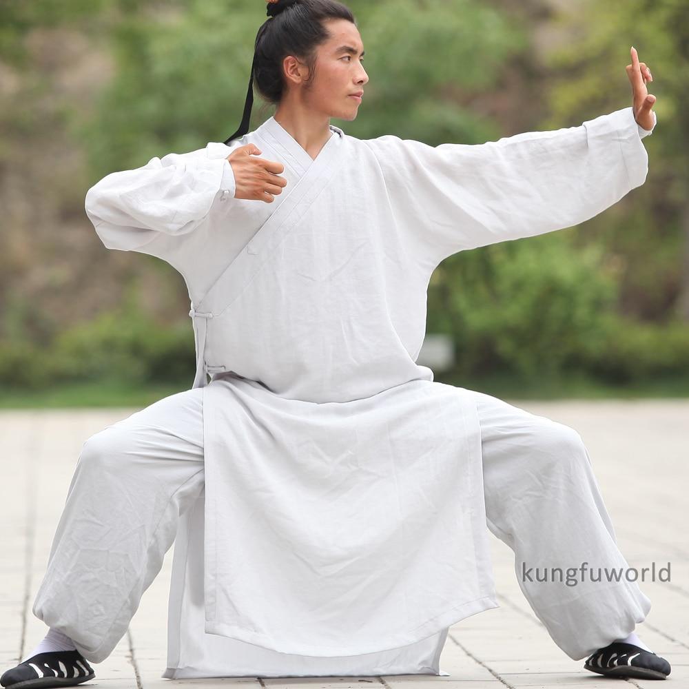 25 Colors Linen Shaolin Wudang Taoist Robe Tai Chi Suit Martial Arts Kung Fu Wushu Wing Chun Uniforms