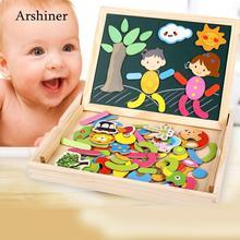 Старая игрушка Doodle 3 Jigsaw унисекс для рисования деревянная доска для детей лет Магнитная для двустороннего многоцветный