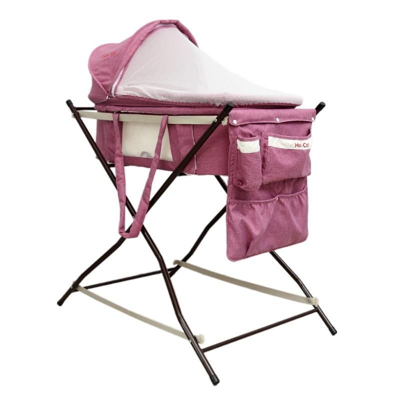 Детская кроватка, портативный безопасности автомобиля корзина, многофункциональный коаксиальный детская спальная корзина с Москитная сет... ...