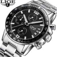 LIGE Reloj Hombre Mens Watches Brand Luxury Men Military Sport Wristwatch Quartz Watch Multi Function