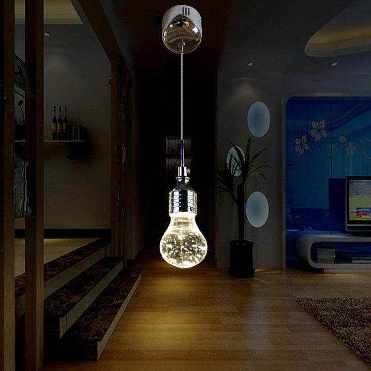 Lampadina di cristallo LED lampade a sospensione lustri para sala de jantar american country retro vintage lampada lamparas de techo colganteLampadina di cristallo LED lampade a sospensione lustri para sala de jantar american country retro vintage lampada lamparas de techo colgante