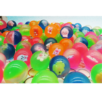 50pcs 42mm Cartoon Animals Rubber Bouncing Ball child elastic Ball kids of pinball bouncy toys for kids Outdoor Game