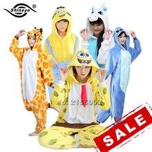 Костюмчиков sleepwear кингуруми кигуруми шов фланелевые пижама pijama единорог панда женщин,