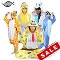 Conjuntos de Pijama de Flanela Unicórnio Unisex Ponto Panda Dos Desenhos Animados Pijamas Cosplay Animal Pijama Onesies Para WomenMan Adulto Criança Inverno