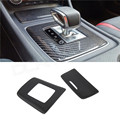 For Mercedes A45 AMG Carbon Fiber Gear Surround and Compartment Cover Interior Trim Accessories Only Left Hand Drive 2014-2016