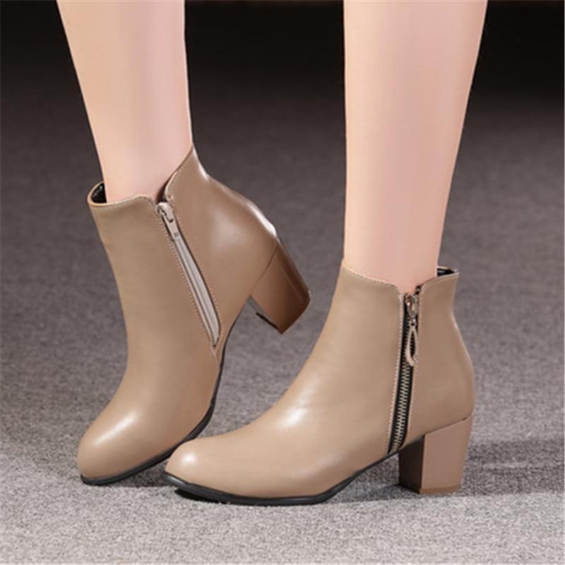 Plus Size 34-45 New შემოდგომა ზამთარი - ქალის ფეხსაცმელი - ფოტო 2