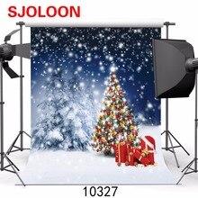 Новая фотография рождественской елки фон снег sce фотография-студия-фон для студийной фотосъемки виниловые фоны Рождество