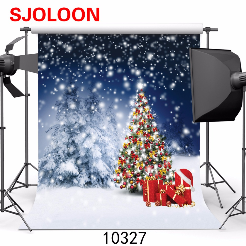 New Christmas tree photography background Snow sce  Photography-studio-backdrop Fond studio photo vinyle Backgrounds christmas