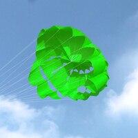 Бесплатная доставка 2,7 м мощный двухлинейный парашют Радужный спортивный пляжный змей для начинающих воздушные змеи Wei завод