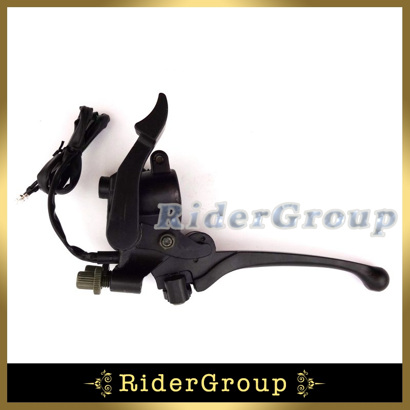 Thumb Throttle Accelerator Assembly Handle Brake LeverFor 50-125cc ATV 4 Wheeler