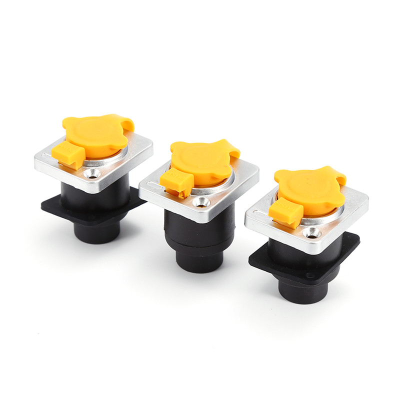 Newest 3PCS Network Cable Connecter RJ45 Waterproof Sockets Connector Aviation Plug PCB Panel Mount Socket