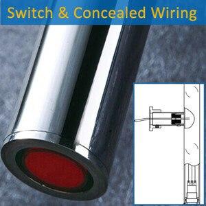 Широкая хромированная отделка с подогревом полотенцесушитель подогреватель скрытый/открытая проводка электрическое Полотенце радиатор полотенцесушитель HZ-920A - Цвет: Фиолетовый