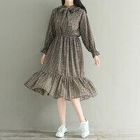 Fall New Female Falbala Long Dress