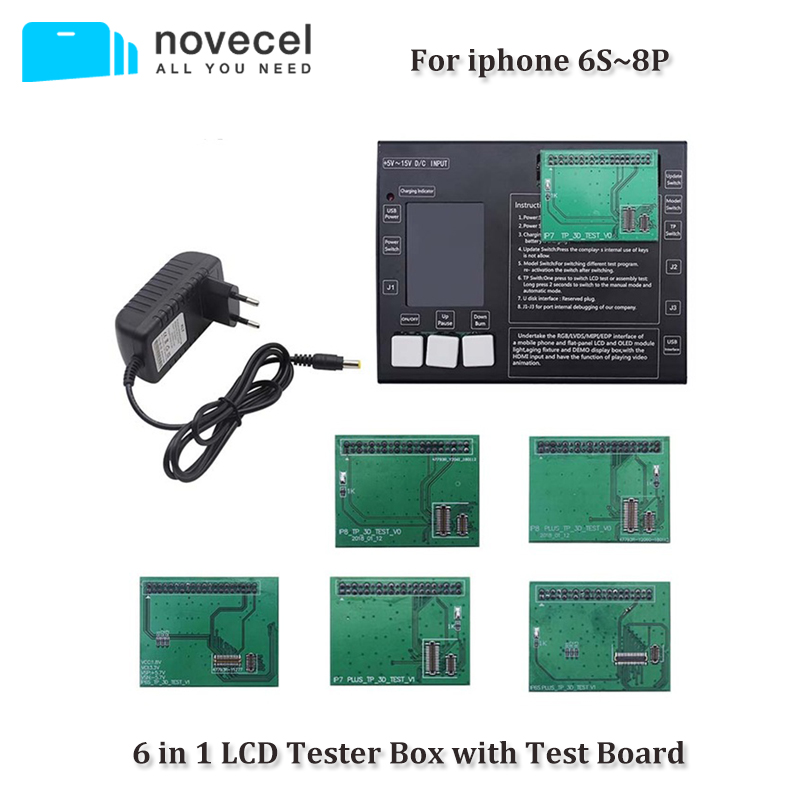 6 in 1 For iphone 6S 6S plus 7 7plus 8 8plus Touch Screen Tester Box with Test Board LCD Tester Box Tools