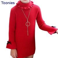 Princess Girls Dress Newest Design Frocks For Girls Long Sleeve Dresses Kids Party Costume Bow Teens