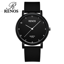 RENOS Quartz Watches Women With Exquisite H Simple Black And White Wristwatches Fashion Casual Womens Watch relogio Ladies
