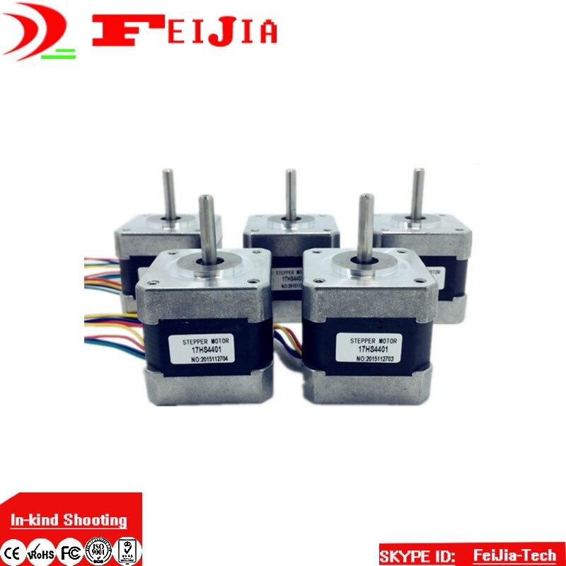 5 pcs 17HS4401 4 lead Nema 17 Stepper Motor 42BYGH 40mm 1 7A for 3D printer
