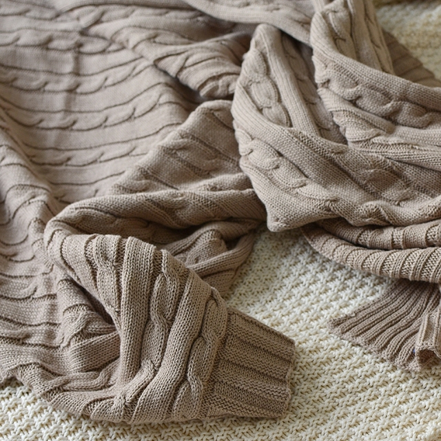 Knitted Cotton Blanket