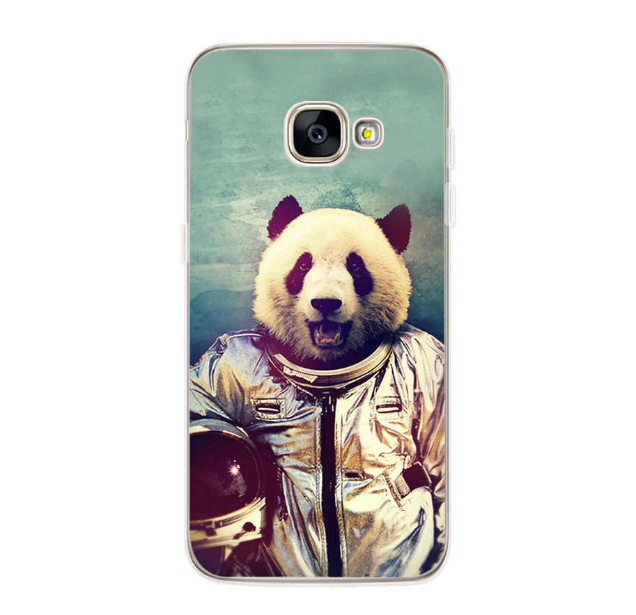 ciciber For Samsung Galaxy A5 2016 A3 A7 2017 A6S A8 Plus 2018 A8 A9 2018 PRO Soft TPU Phone Cases Animal Pandas Fundas Coque in Fitted Cases from Cellphones Telecommunications