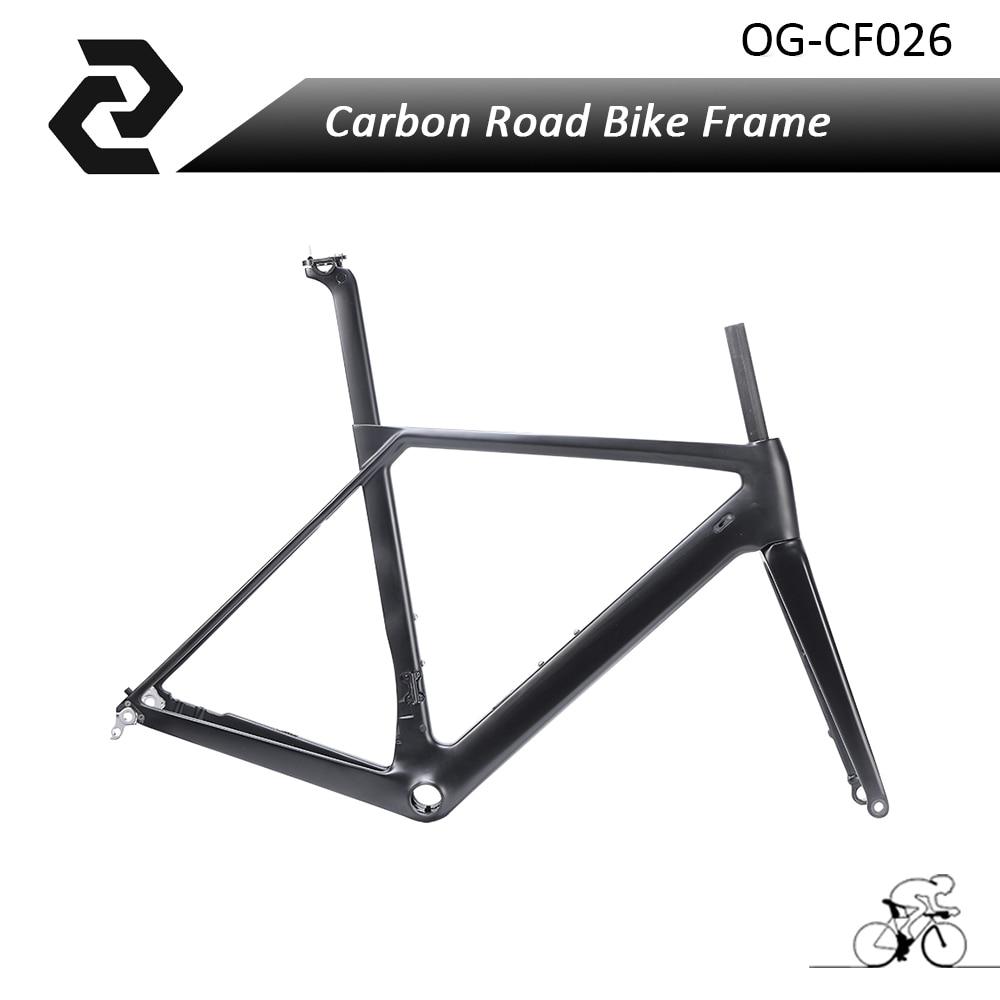 2018 Carbon Road bike frame disc brake fork Seatpost Headset Carbon disc brake Frame UD Matte Glossy BB86 Di2 and Mechanical carbon bike seatpost 27 2 30 8 31 6mm ud