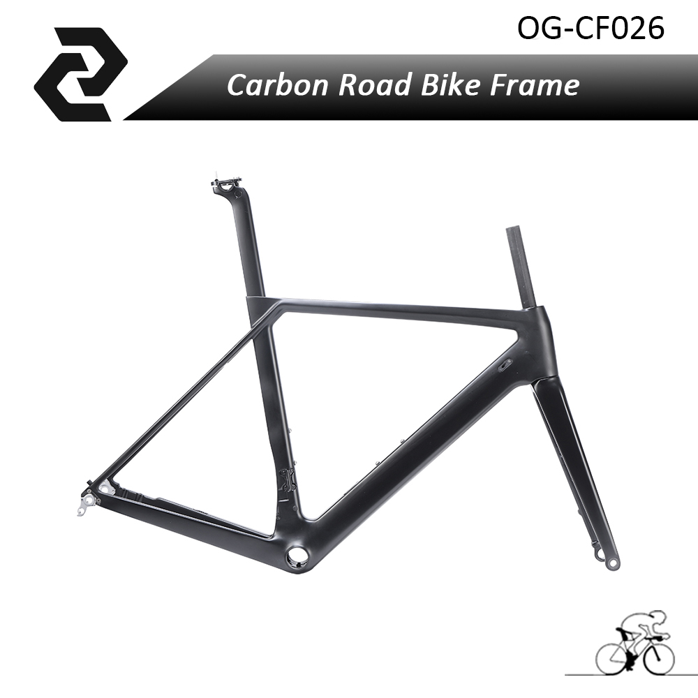 2018 Carbon Road bike frame disc fork Seatpost Headset Carbon disc brake Frame UD Matte Glossy BB86 Di2 and Mechanical 2017 flat mount disc carbon road frames carbon frameset bb86 bsa frame thru axle front and rear dual purpose carbon frame