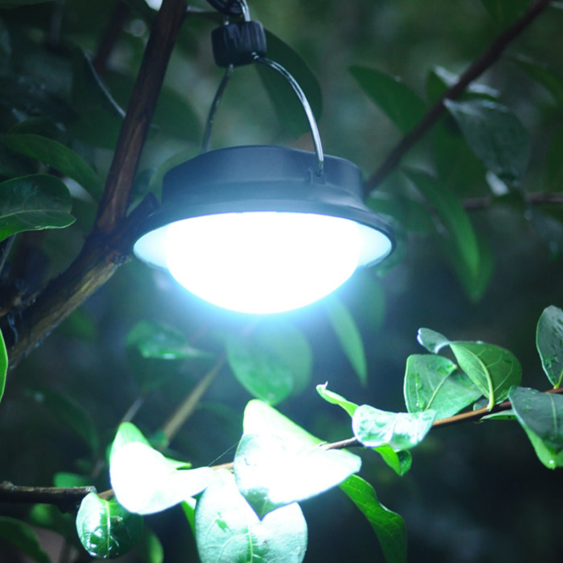 Portable 60led tents lights camping Emergency Lamp Hanging Hiking Lantern Umbrella Night Light For AAA/18650 battery