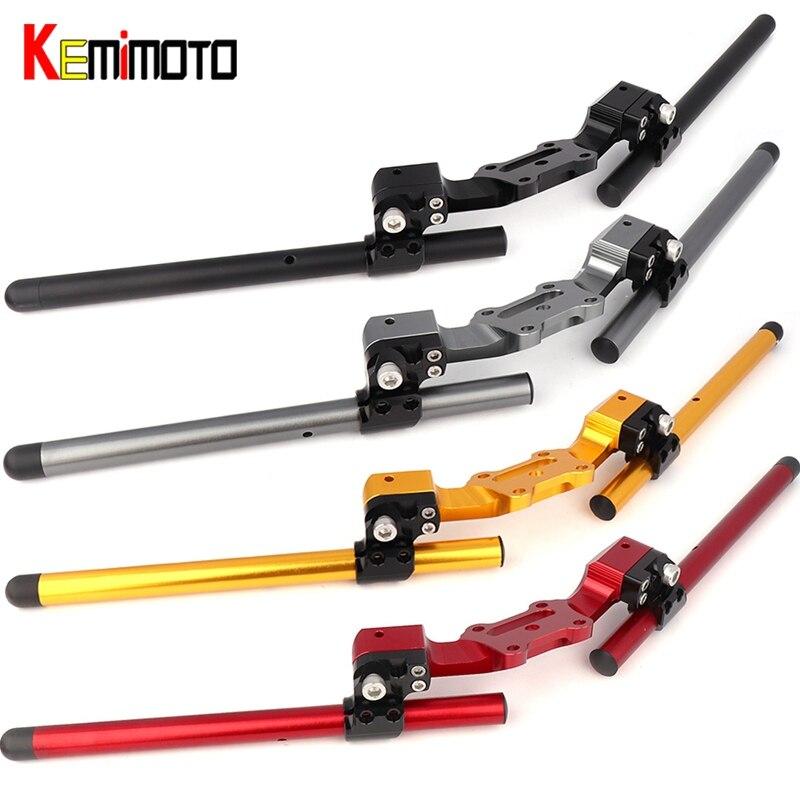 Kemimoto для Ducati скремблер регулируемый руль ручка с зажимом комплект Аксессуары для мотоциклов 4 цвета