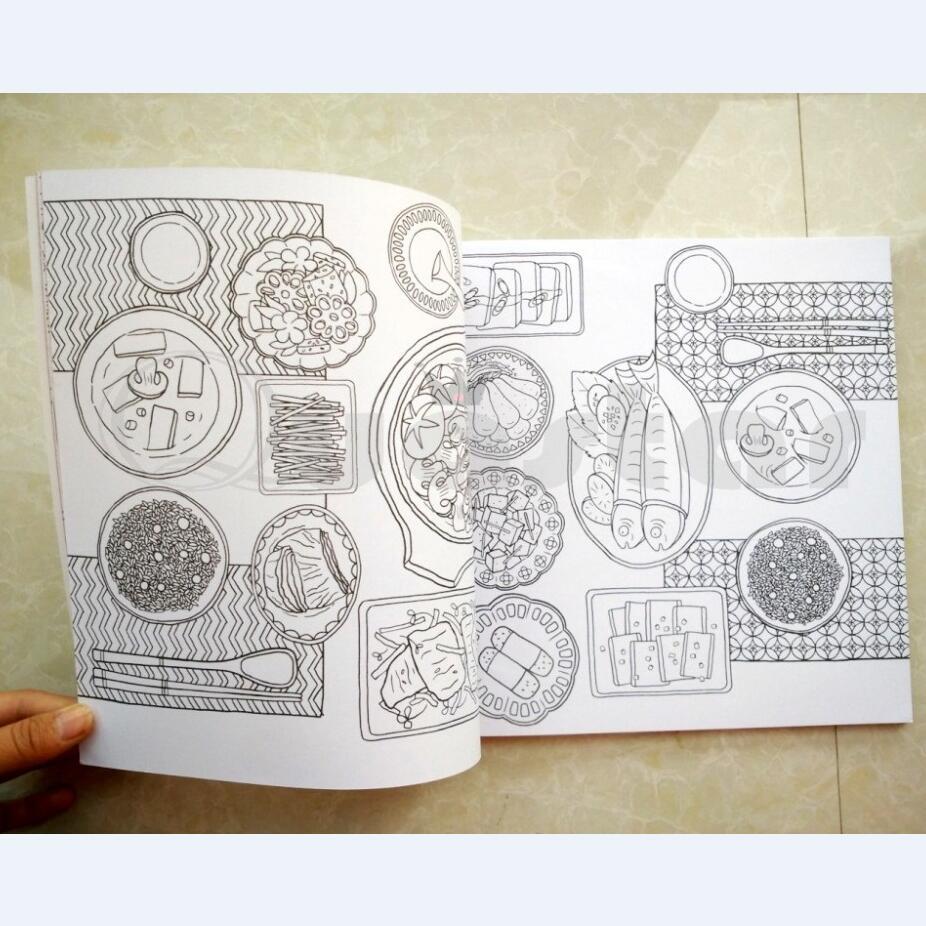 Ilmu Pengetahuan 1 Mewarnai Doodle Makanan