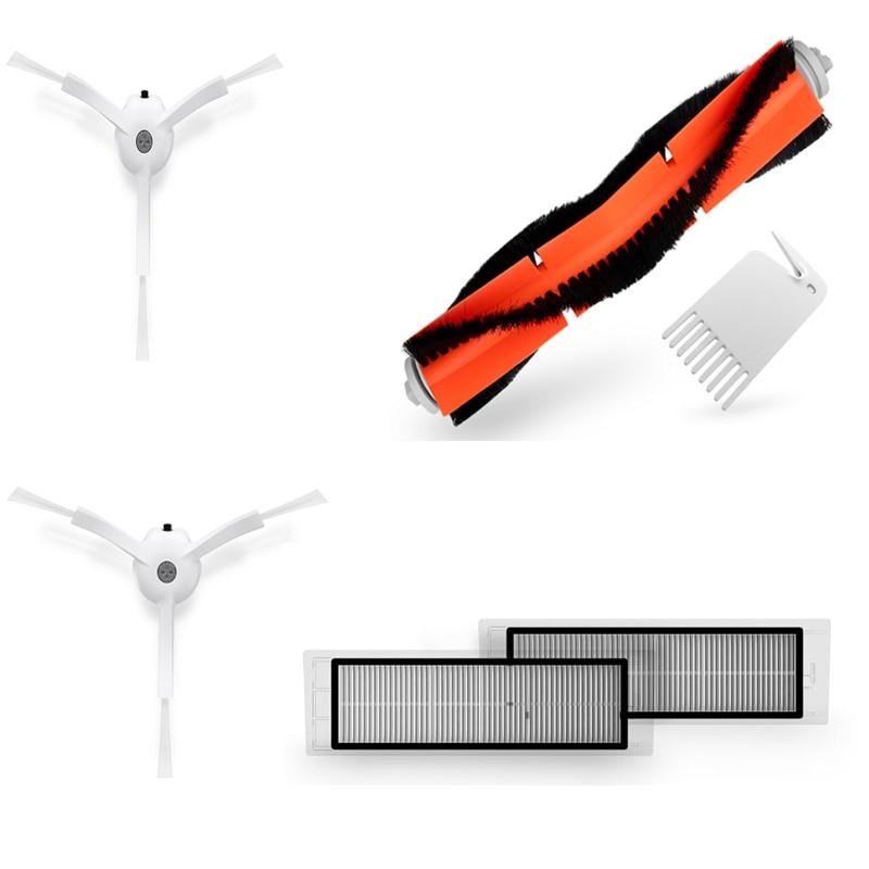 Xiaomi Roboter-staubsauger Ersatzteil Kits Reinigungsbürste X2PC, HEPA-Filter X2PC, wichtigsten Pinsel X1PC, Reinigungswerkzeug X1PC