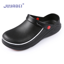 Summer High Quality EVA Non-slip Waterproof and Oilproof Chef Work Shoes Kitchen Hotel Restaurant Slippers Flat Sandals