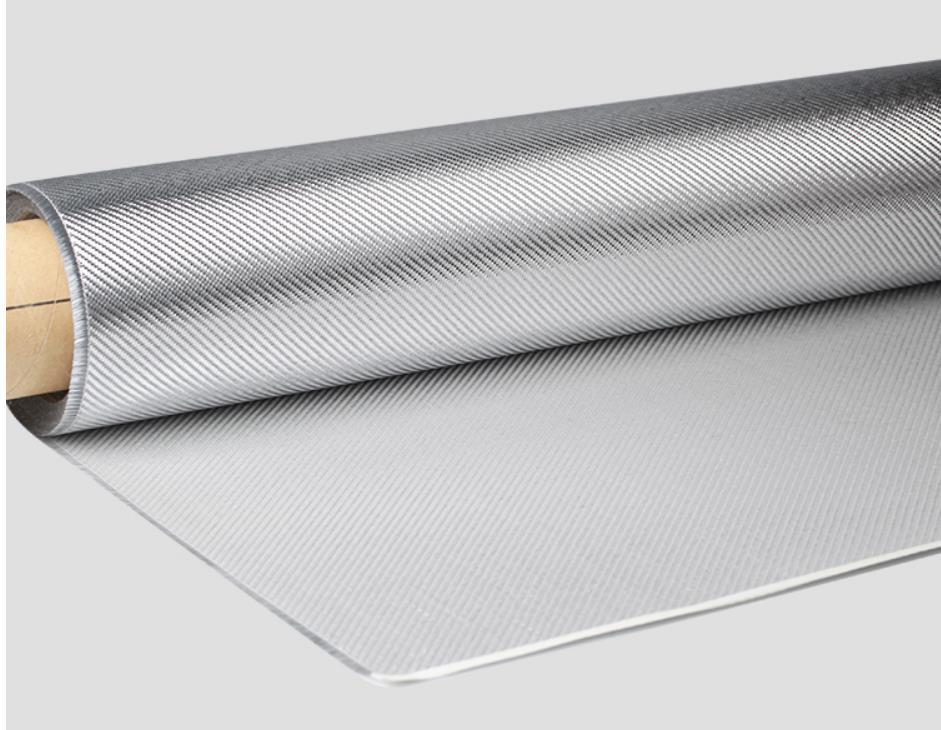 Silver gray carbon fiber cloth fabric aerospace sports supplies construction materials high strength anti hot carbon