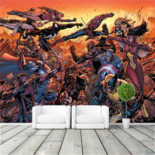 Cartoon Avengers Photo Wallpaper Movie Wall Mural Marvel Comics Wallpaper  Super Hero Room Decor Large Wall Art Kid Room Bedroom Part 93