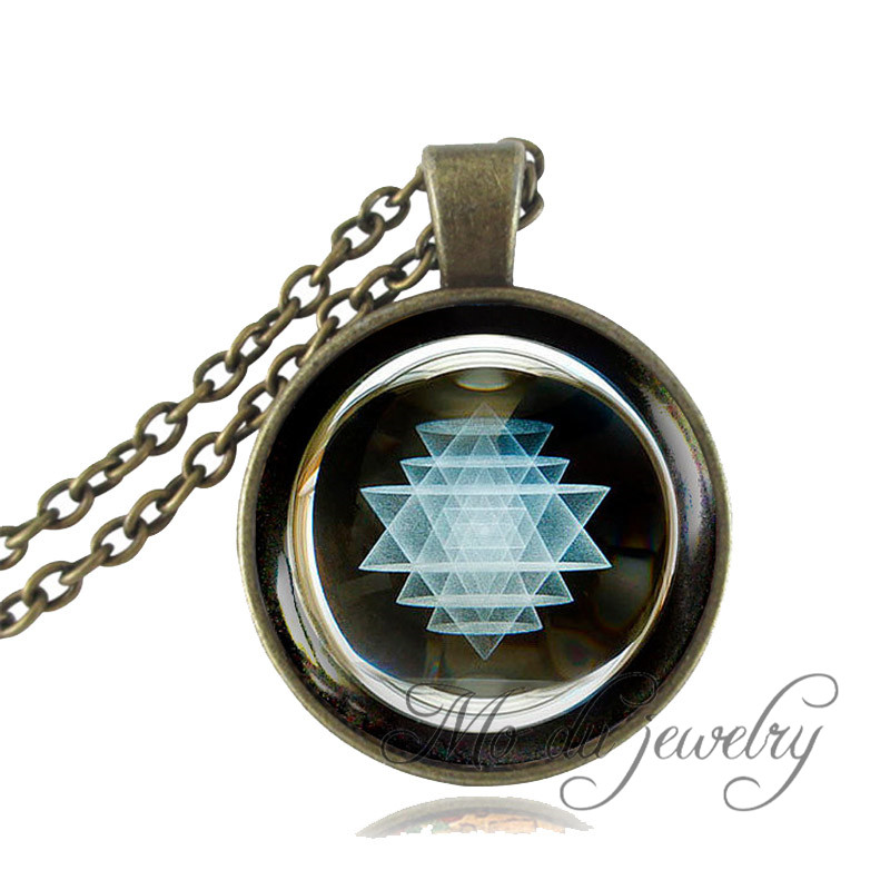 Sri yantra pendant mandala necklace sacred geometry sri yantra sri yantra pendant mandala necklace sacred geometry sri yantra necklace for men buddhist jewelry spiritual blue black jewelry in pendant necklaces from aloadofball Image collections