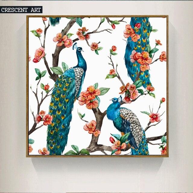 2017 Frühling Neue Saison Tropical Wildlife Leinwand Druck Pfau Poster  Dekorative Bild Hause Schlafzimmer Wand Dekoration