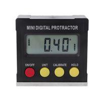 360 graus digital transferidor inclinômetro eletrônico nível caixa magnética base ferramentas de medição