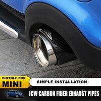 Горячая Распродажа для Mini Cooper авто Стайлинг углеродное волокно выхлопные трубы глушитель выхлопной трубы подходит для R55 R56 R60 R61 F55 F56 F54 на вы