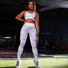 YCDYZ женский спортивный костюм Женская одежда для фитнеса спортивная одежда набор для йоги принт беговые костюмы Спортивная одежда леггинсы для девочек