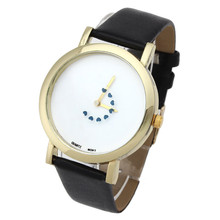 Prime Promoting Coronary heart Turntable Second Hand Leather-based Band Analog Quartz Dial Watch New Arrival