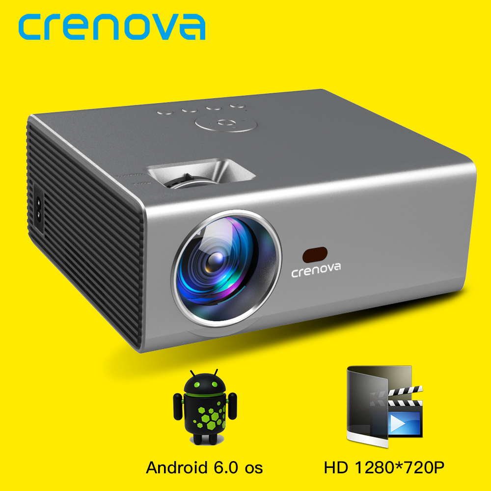 CRENOVA 2019 Newest LED Projector HD 1280*720P Android 6.0OS 3800 Lumens Home Cinema Movie Android Projector With WIFI Bluetooth(China)
