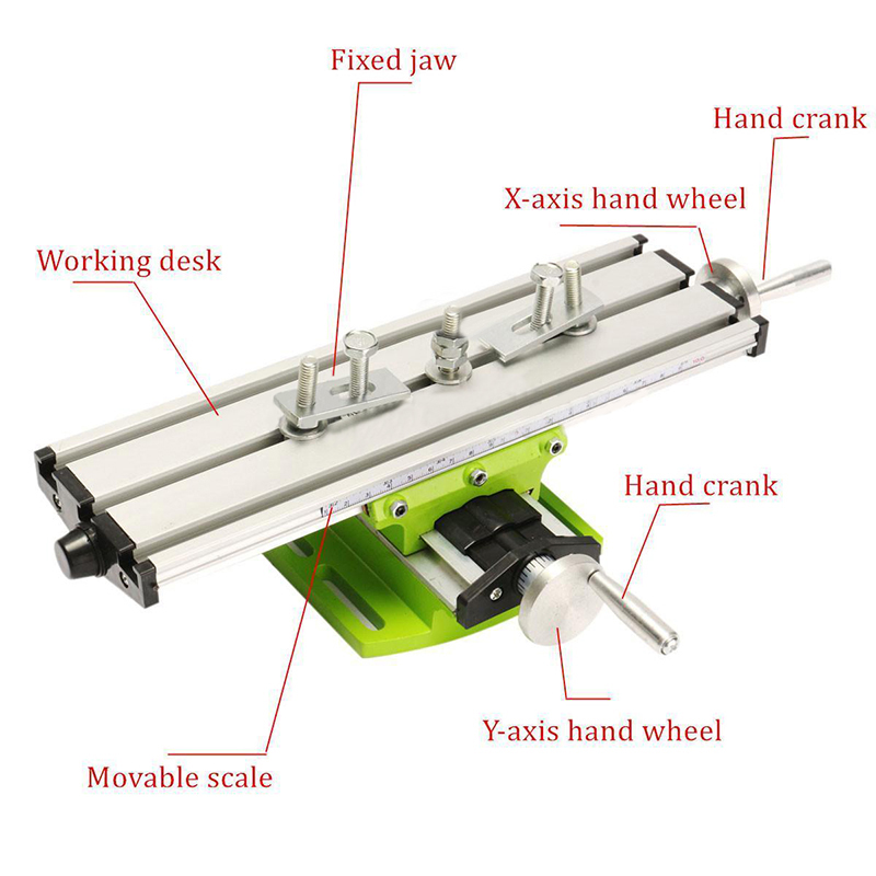 Miniature Precision Multifunction Milling Machine Bench Drill Vise Fixture Adjustable Worktable X Y-axis Adjustment CoordinateMiniature Precision Multifunction Milling Machine Bench Drill Vise Fixture Adjustable Worktable X Y-axis Adjustment Coordinate