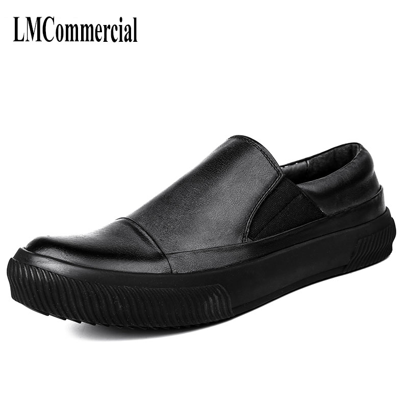 The shoes retro trend of Korean male British style all-match young men leather business casual shoes black cowhide breathable all the sad young men