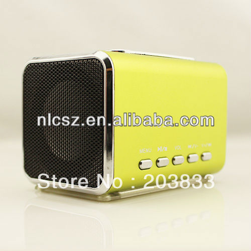 Free shipping + New Music Angel USB Cell Phone Speaker Player Support For SD/TF Card  SPE05-GR