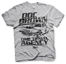 Back to the Future Doc Brown Marty McFly Official Tee T-Shirt Mens New 2019 Hot Summer Casual T-Shirt Printing super heroes single sale doc brown marty mcfly set 71201 back to the future figures building blocks children toys gift kf197