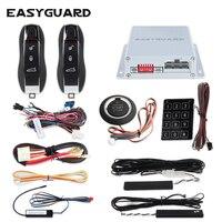 EASYGUARD компания прыжковой код PKE сигнализация Пассивный Автозапуск Дистанционный Запуск стартера и кнопка старт touch ввода пароля dc12V