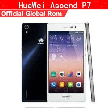 Original HuaWei Ascend P7 4G LTE Mobile Phone Kirin 910T Quad Core Android 4.4 5.0 FHD 1920X1080 2GB RAM 16GB ROM 13.0MP mobile phone